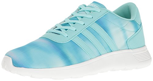 adidas Girls' Lite Racer K Running Shoe, Clear Aqua/Ocean/White, 4 M US Big Kid by adidas