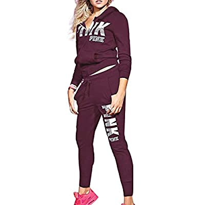 Women's Fashion Sport Suits Long Sleeve Letter Print Sweatshirt and Pants Set Active Top Bottom 2 Piece Outfits Tracksuit