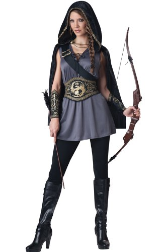 InCharacter Costumes Women's Huntress Costume, Grey/Black,