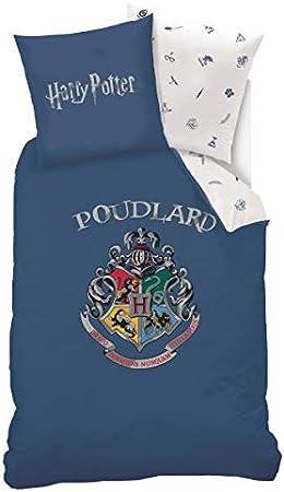 Harry Potter Parure de lit r/éversible avec housse de couette et housse de couette Warner Brothers Double