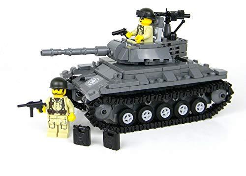 Battle Brick M24 Chaffee Deluxe Army Tank World War 2 Hand Sorted Custom Set