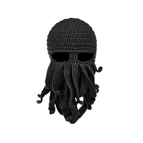 Adulto Sombrero de Ganchillo Sombrero de Punto con Barba Tejido a ...