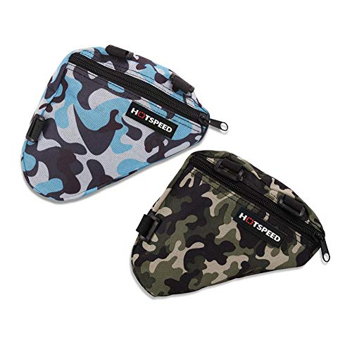 Bike Frame Bag Waterproof Triangle Front Top Tube Pack Bicycle Camouflage Saddle Pouch 2 PCS