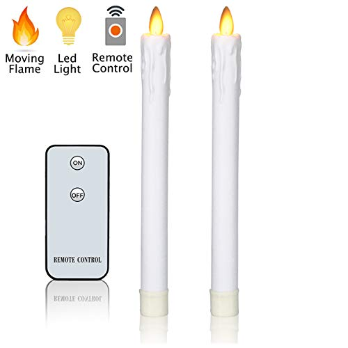 Candles Flameless Taper (Flameless Candles Flickering Taper Candles H9