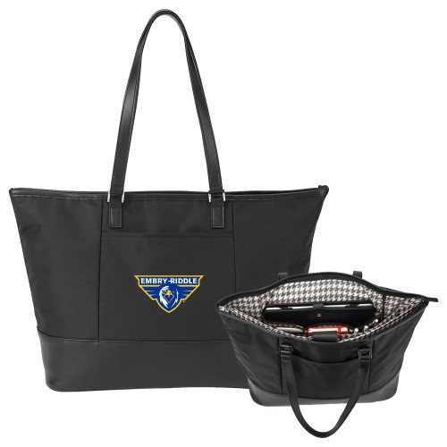 Embry Riddle Prescott Stella Black Computer Tote 'Athletic Mark' by CollegeFanGear