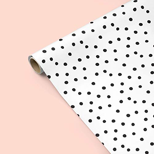"Black and White Polka Dot Wrapping Paper - Set of Two Sheets 20"" x 29"" - Fathers Day, Groom, Wedding, Christmas, Hanukkah, Modern, Boy, Girl, Scrapbooking, Craft Paper from The Eclectic Chic Boutique"