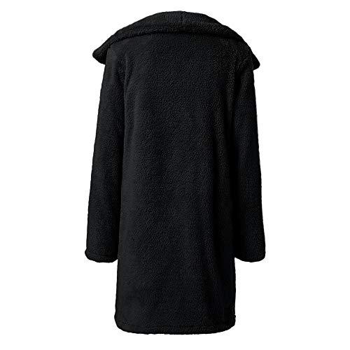Maternité D'extérieur Sammoson Vêtements Hiver Fausse Veste Artificiel Manteau Gilets Laine pulls Revers Dames Fourrure Chaud Noir Femme La x00CUwaRq