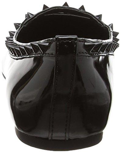 Steve Madden Xhail Damen Ballerina Schwarz (Black Patent)