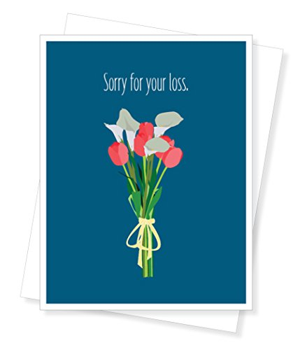 Lily Card Sympathy (Lilies and Tulips, Thinking of You, Sympathy Greeting Card)