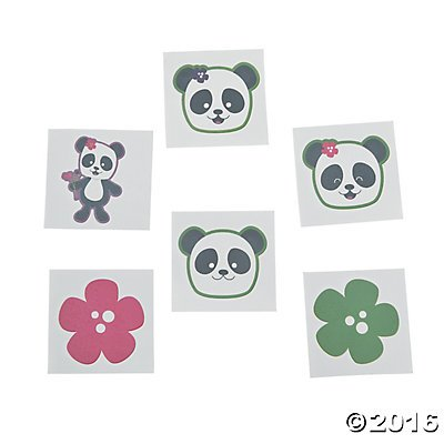 Panda Party Tattoos - 72 ct (Hibiscus Flower Pinata)