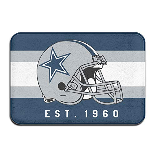 - Jacoci Custom Dallas Cowboys Doormats Non Slip Heavy Floor Door Mats Rugs Bahroom Decor Standard Size 15.7 X 23.6 Inches