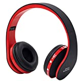 Puissant Bluetooth Headset Wireless Headphones Stereo Foldable Sport Earphone Microphone headset bluetooth earphone black+red