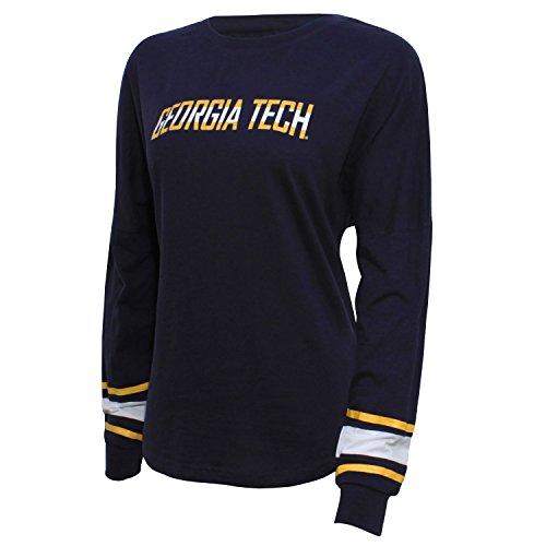 NCAA Georgia Tech Women's Campus Specialties Long sleeve Fan Tee, Small, Navy