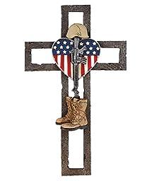 Patriotic Fallen Soldier Memorial Wall Cross