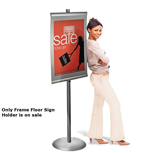 New Retail Standing Metal Easel Frame Floor Sign Holder 22''W x 28''H by Easel Frame
