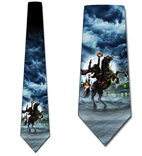 Sleepy Hallow Halloween (Headless Horseman Ties Mens Halloween Tie Sleepy Hallow Necktie by Three)