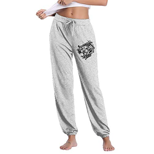 (Women's A Roaring Tiger Sweatpants with Pockets Lounge Pants Gray)