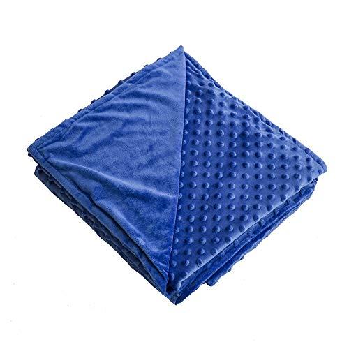 zonli removable duvet cover weighted blanket blue blue minky dot duvet cover. Black Bedroom Furniture Sets. Home Design Ideas