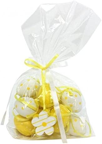 Yellow White Easter Egg Decorations