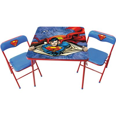 O'Kids Superman Metal Activity Table and Chair ()