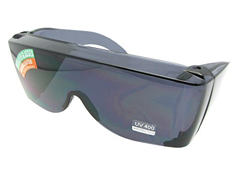 - Largest Fit Over Glasses Sunglasses Sun Shield Non Polarized Style F30 (Gray Non Polarized Lens)