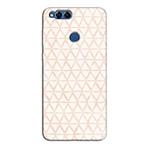 Cover It Up - Triangle Print Orange Honor 7x Hard Case