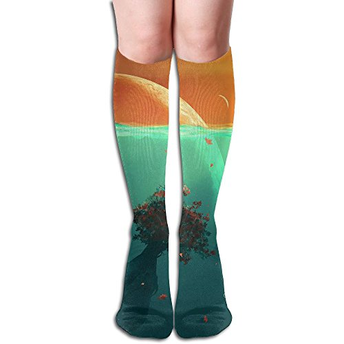 Long Stocking Deep Ocean Planet Fish Women's Over Knee Thigh Winter Warm Sexy Stocks Knitting Welt