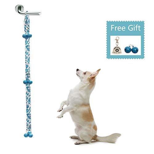 BINGPET Dog Doorbells for Potty Training & Housetraining, Adjustable Door Bell, Premium Quality for Doggy Housebreaking, Paisley