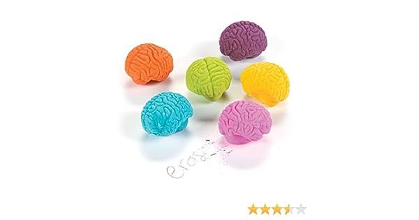 Fun365 Brain-Shaped Erasers