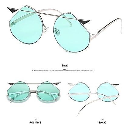DaoRier Gafas de sol polarizadas con ojo de gato, metal, Verde, A4