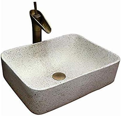長方形現代の洗面シンク景徳鎮セラミックホテルアンチスプラッシュ洗面浴室のシンクの蛇口1セット