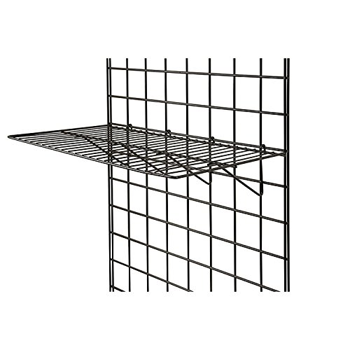 Store Display Shelves - Only Garment Racks BLK-2412 Grid Panel Display Shelf - - Clothing Display Rack Grid, Heavy Duty Shelves, 12