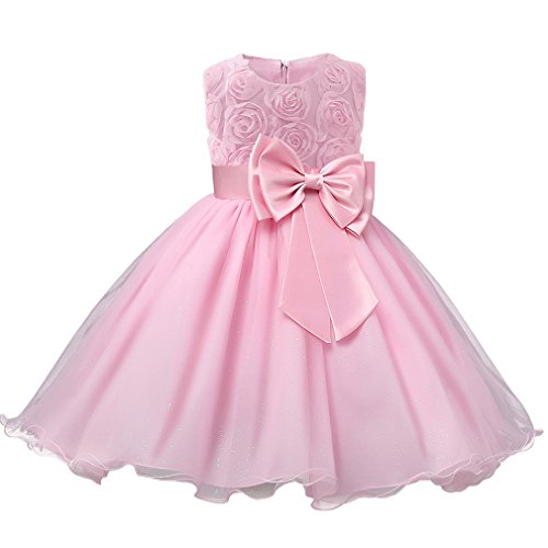 Niyage Girls Party Dress Princess Flowers Glitter Wedding Dresses Toddler Baby Pageant Tulle Tutus 12-18 M -