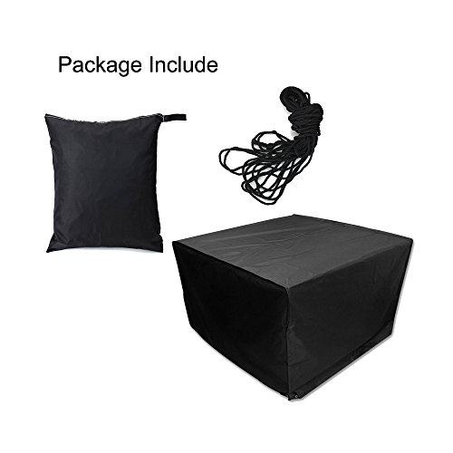 Easehold Patio Furniture Cover Square Rattan Wicker Table and Chair Set Cover