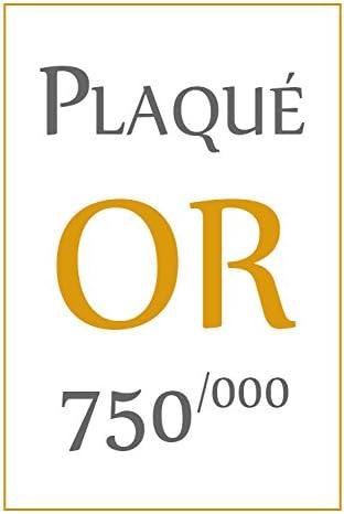Bague Mixte Homme Femme Eternal Gold 18 carats Plaqu/é Or 750//000 ISADY Chevali/ère