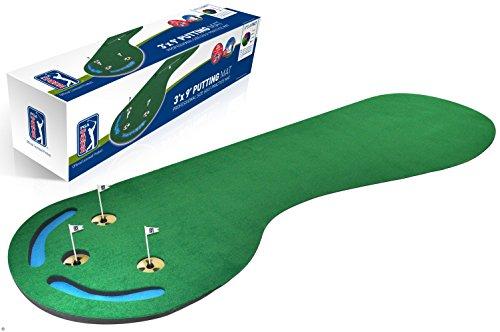 PGA Tour Three Hole Putting Mat - 3 x 9 Feet