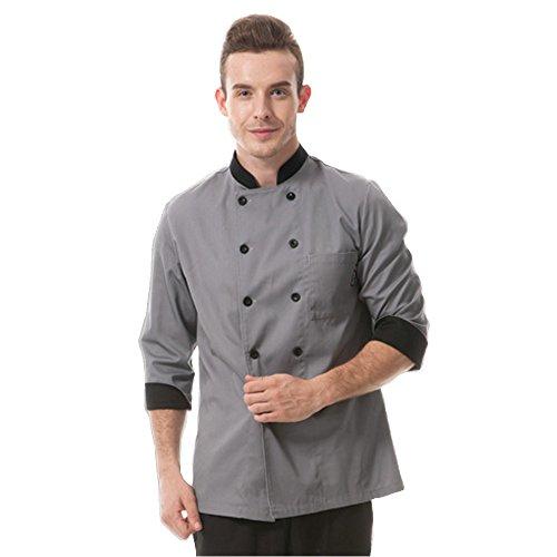 chef coat men grey - 2