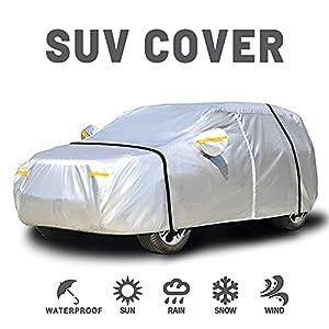 NEVERLAND Funda para Coche SUV Talla M 455x185x170CM 210D Oxford Anti-UV Anti-Polvo