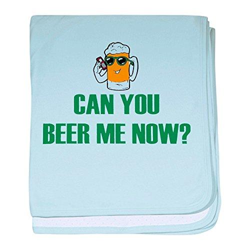 Beer Baby Blanket - Royal Lion Baby Blanket Can You Beer Me Now Beer Mug - Sky Blue