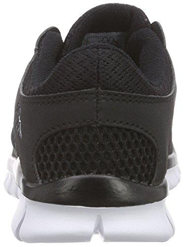 KappaFOX LIGHT Footwear unisex, Synthetic/Mesh - Zapatillas Unisex adulto Negro - Schwarz (1110 black/white)