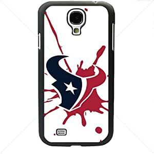 NFL American football Houston Texans Fans Samsung Galaxy S4 SIV I9500 TPU Soft Black or White case (Black)