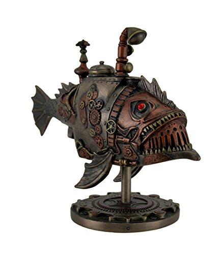 Veronese Design Hand Painted Steampunk Submarine Sci-fi Fantasy Statue 5