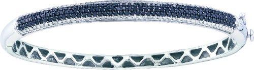 Bracelet Jonc or blanc 14carats 1,48DWT Diamant