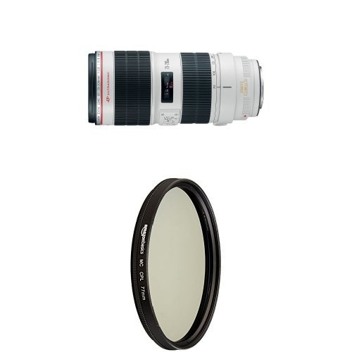 Canon Telephoto Zoom Lens for Canon SLR Cameras with Circular Polarizer Lens