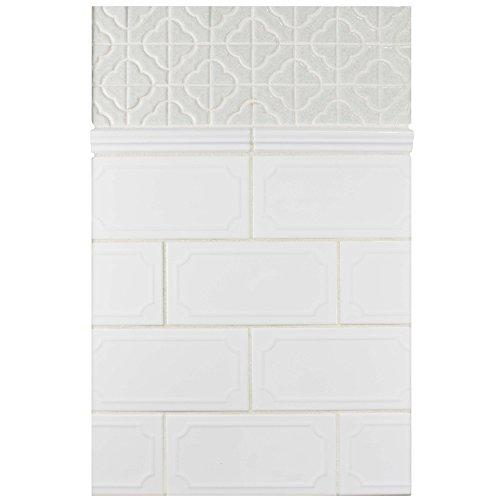 SomerTile WCVRGBZM Zuri Brillo Zen Moldura Wall Trim Tile, 1'' x 8'', White by SOMERTILE (Image #9)