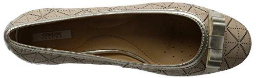 Geox D Carey a, Zapatos de Tacón para Mujer Beige (LT TAUPE/LT GOLDCH62L)