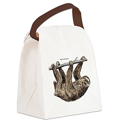 Cafepress   Three Toed Sloth Canvas Lunch Bag   Canvas Lunch Bag With Strap Handle