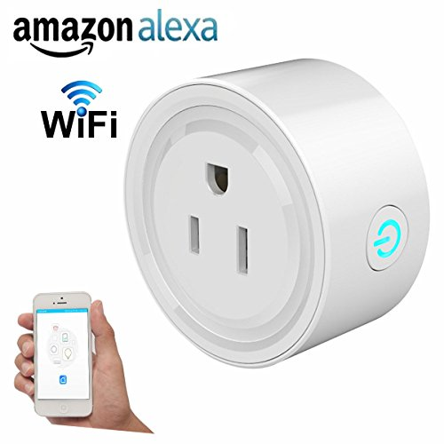 Price comparison product image Smart Outlet Plug, Lightone Wifi Smart Plug Outlet US Plug No Hub Required Timing Funciton Works with Echo Alexa Remote Control Your electronics Anywhere for iPhone Samsung IOS Android devices