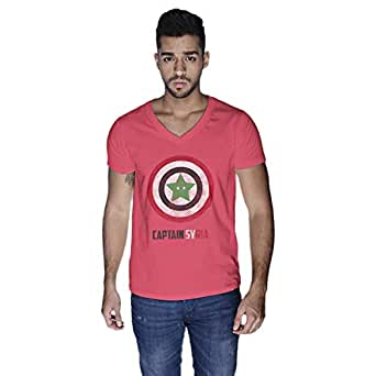 Creo Captain Syria T-Shirt For Men - L, Pink