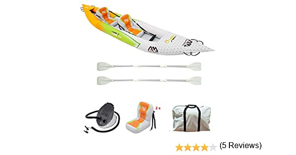 Set de Kayac inflable por 2 BETTA HM-K0 136 2 personas canoa ...